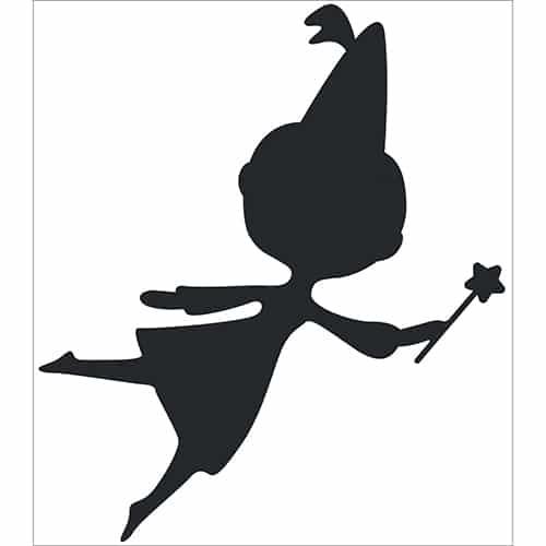 Sticker Fée Noire pour enfants