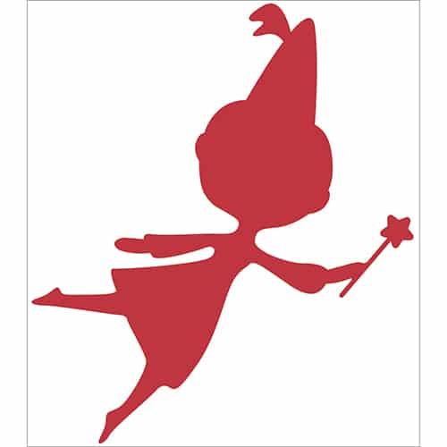 Sticker Fée Rouge pour enfants