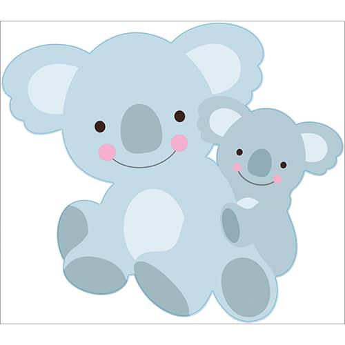 Sticker maman et bébé Koalas pour enfants