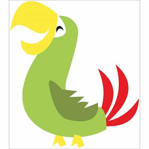 Sticker Perroquet rieur pour enfants