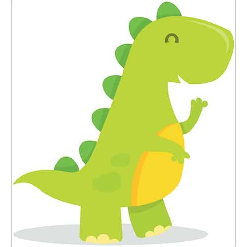 Sticker Dinosaure pour chambre d'enfants
