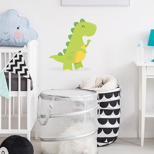 Sticker mural Dinosaure mis en ambiance dans une chambre pour bébé