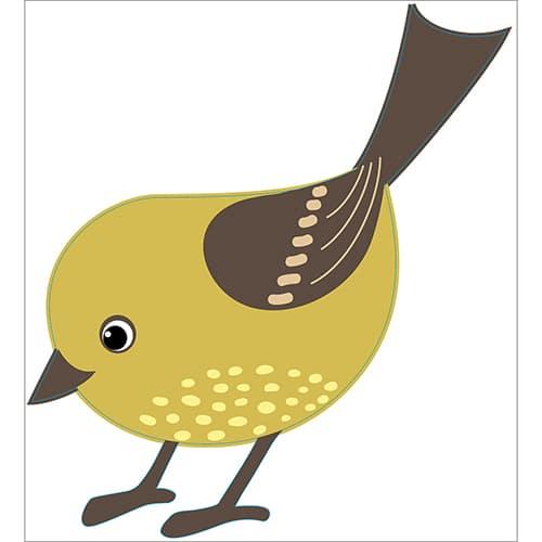 Sticker mural oiseau pour enfants