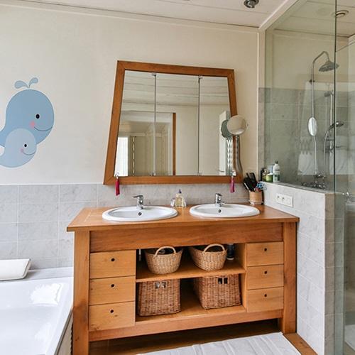 Sticker autocollant Baleines salle de bain