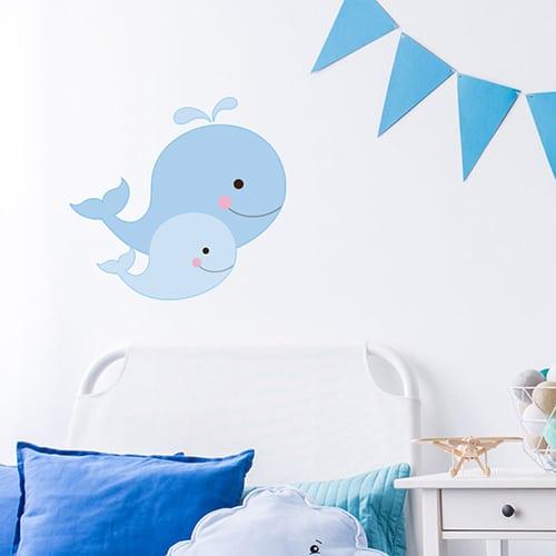 Sticker autocollant Baleines chambre d'enfant