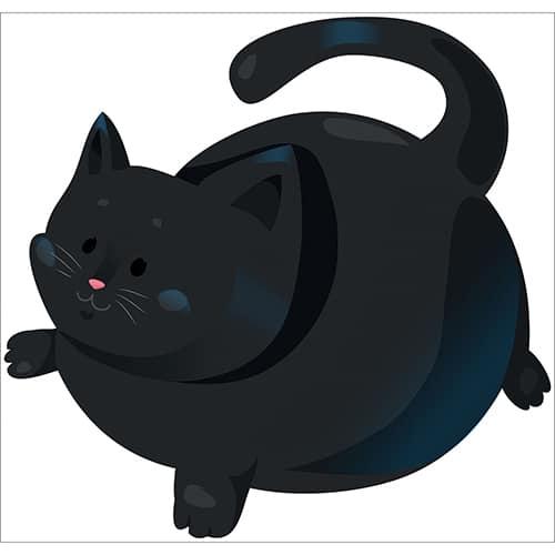 Stickers pour enfants Chat noir