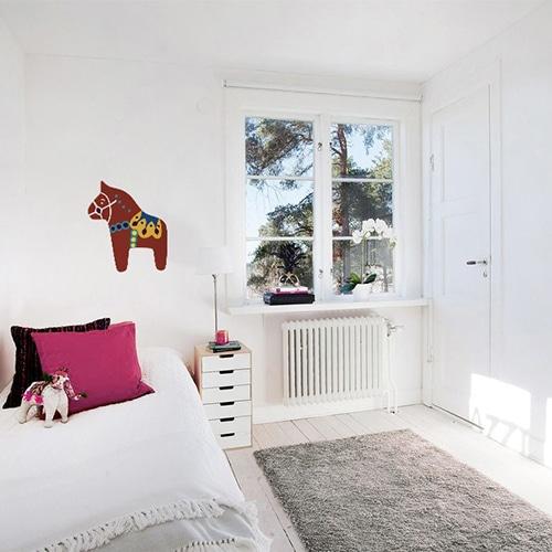 Stickers Cheval pour la chambre de votre enfant mis en ambiance, 2ème proposition