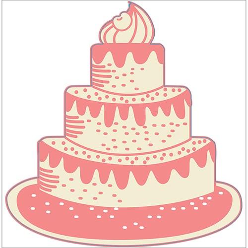 Autocollant Gâteau pour la chambre de votre enfant : Joyeux anniversaire !
