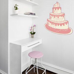 Sticker Gâteau pour la chambre de votre enfant : Joyeux anniversaire !