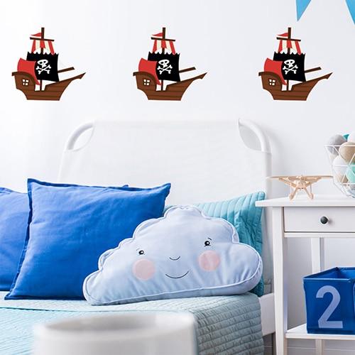 Stickers Bâteau de pirates pour la chambre de vos enfants