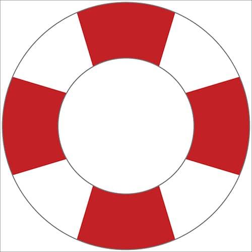 Sticker Bouée pour votre enfant rouge et blanc