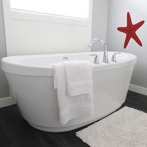 Sticker mural étoile de mer rouge pour votre enfant