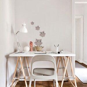 Sticker autocollants Hibou Rose Chair pour enfants mis en ambiance dans un bureau