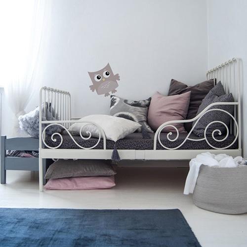 Sticker adhésif Hibou Rose Chair pour enfants collé pour décoration de la chambre