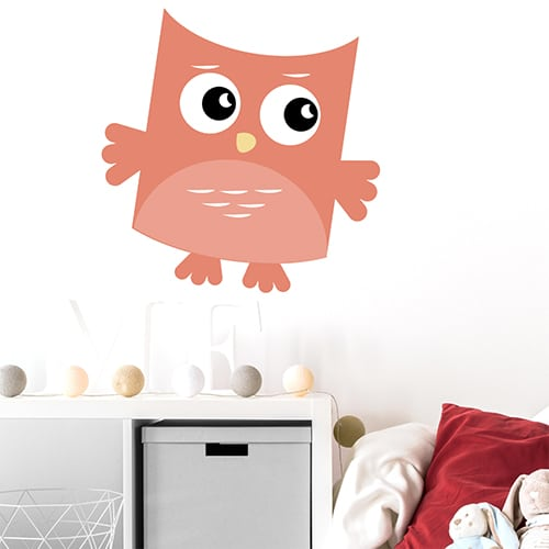 Sticker adhésif Hibou Pêche pour enfants mis en ambiance dans une chambre