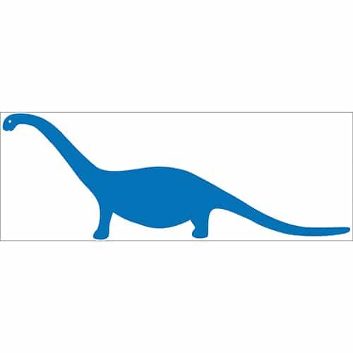 Sticker autocollant Dino Bleu pour enfants