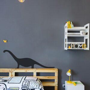 Sticker adhésifs Dino Noir pour enfants mis en ambiance