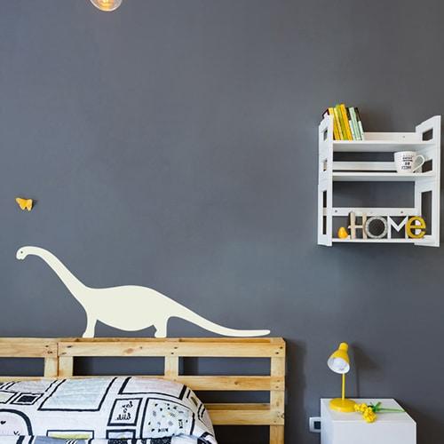 Sticker Dino Beige pour enfants chambre