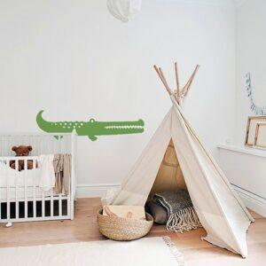 Sticker adhésif Croco Vert pour enfants