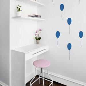 Stickers muraux Ballon Bleu enfants mis en ambiance dans un bureau