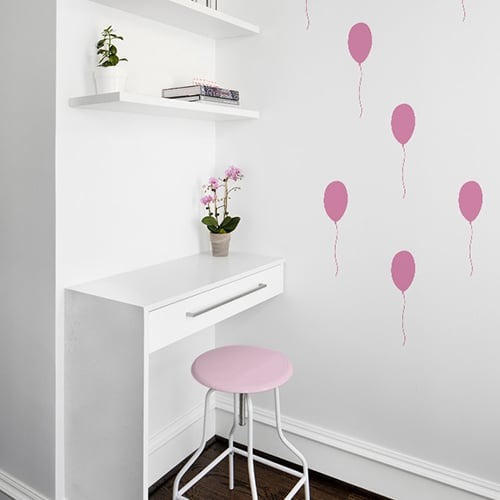 Stickers muraux Ballon Rose enfants