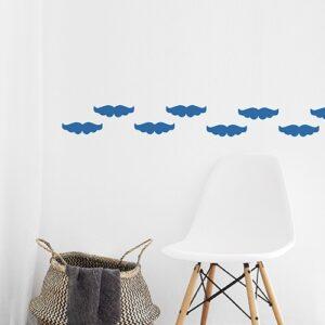 Stickers muraux moustache bleue frise pour pièces de la maison