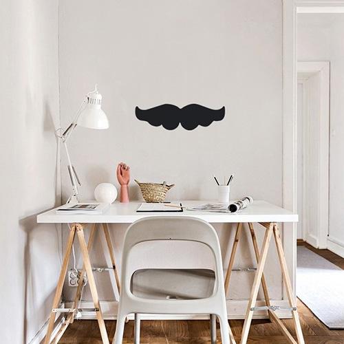 Sticker Moustache noire décoration pour bureau d'enfants