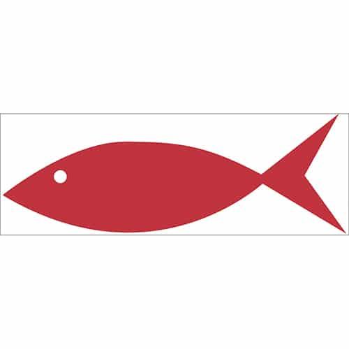 Sticker Poisson Rouge dessiné pour enfant