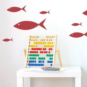 Stickers frise murale pour chambre d'enfants poissons rouges