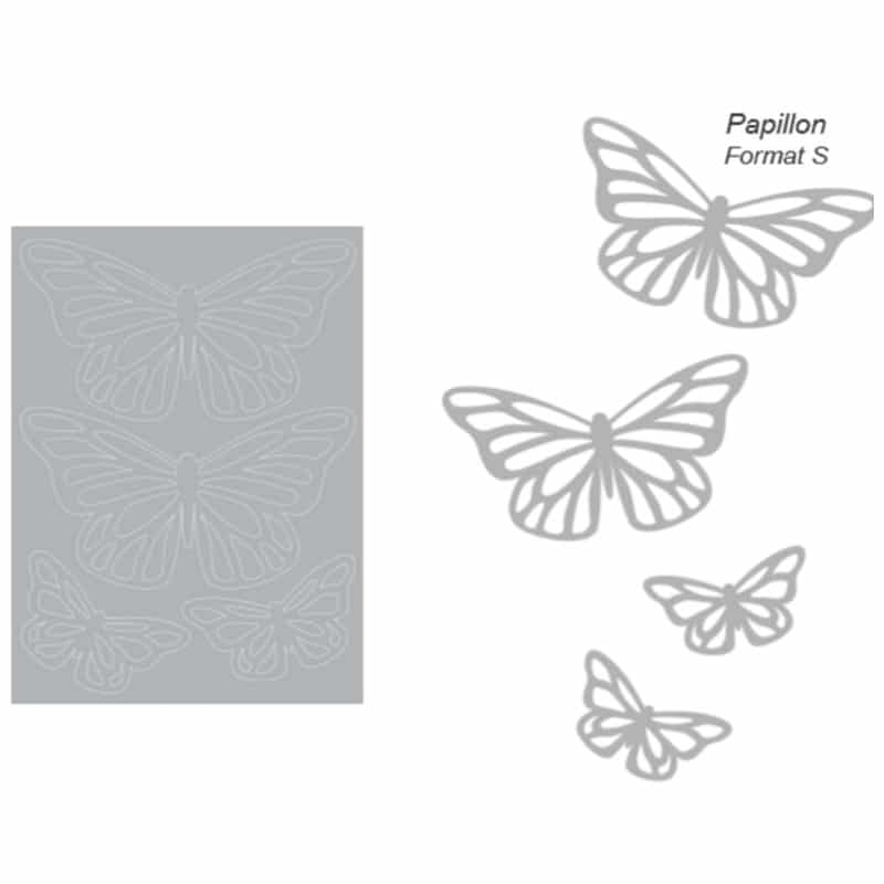 Stickers muraux Papillons gris