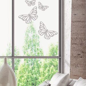 Stickers Papillons mis sur une vitre