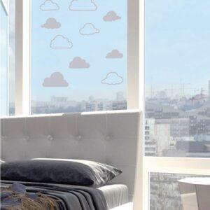 Stickers électrostatique Nuages pour vitres dans un salon