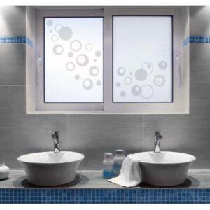 Stickers électrostatique adhésif Bulles dans salle de bain