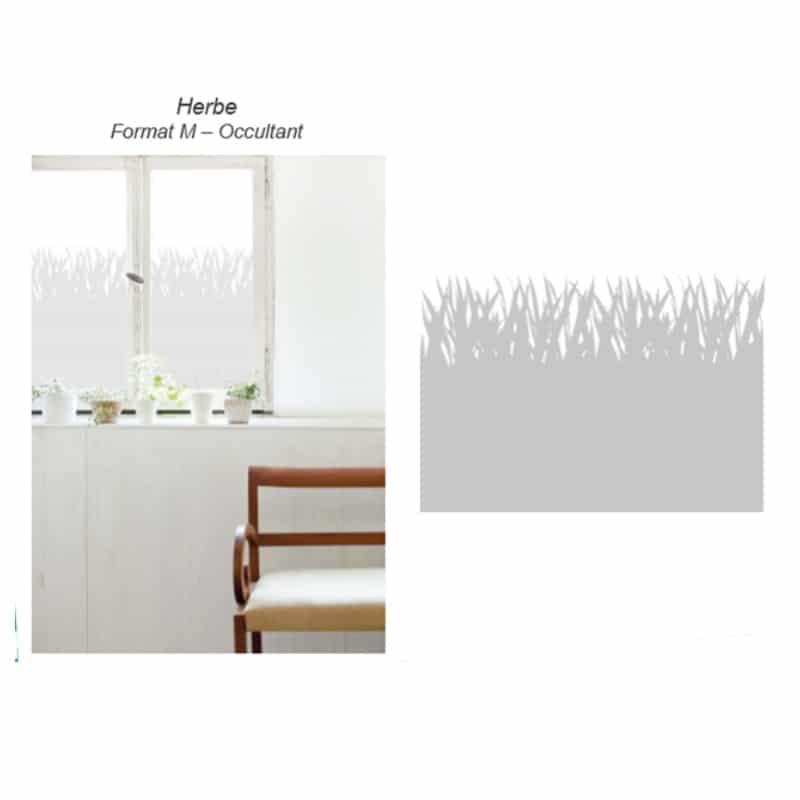 Sitckers effet Herbes pour vitres dans un salon