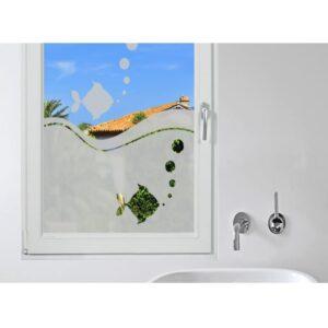 Stickers électrostatique Aquarium pour vitres avec effet occultant