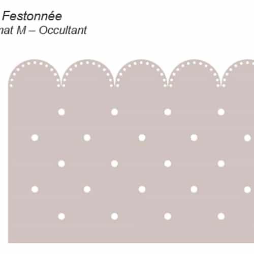 Stickers électrostatique décoratif Feston à pois occultant pour vitres