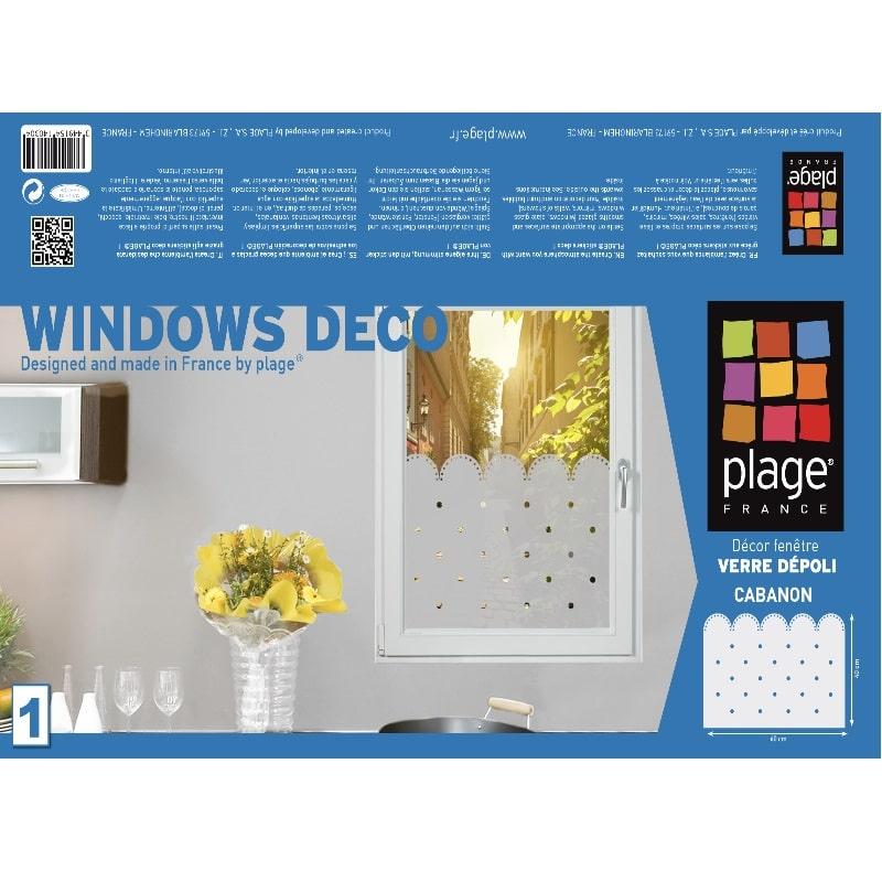 Stickers électrostatique Feston à pois pour vitres