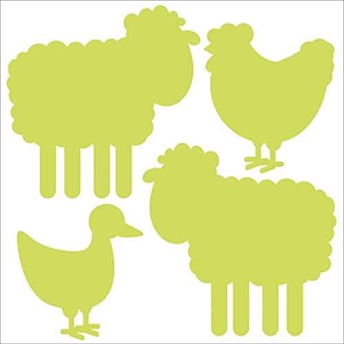 Stickers Animaux de la ferme vert