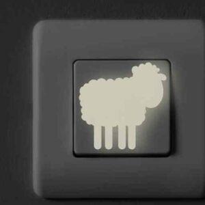Sticker adhésif Animaux de la ferme sur interrupteur