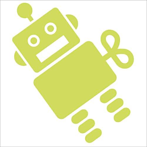 Adhésif autocollant Robot phosphorescent vert