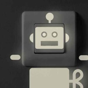 Sticker Robot phosphorescent sur interrupteur