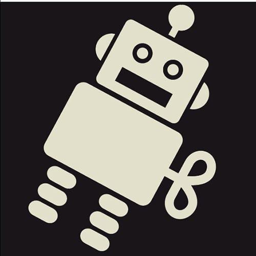Sticker autocollant Robot phosphorescent