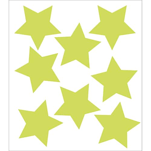 Lot de 8 Stickers Etoiles Phosphorescentes