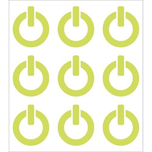 9 Stickers ON/OFF phosphorescentes