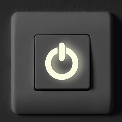 Stickers Licornes phosphorescentes sur interrupteur
