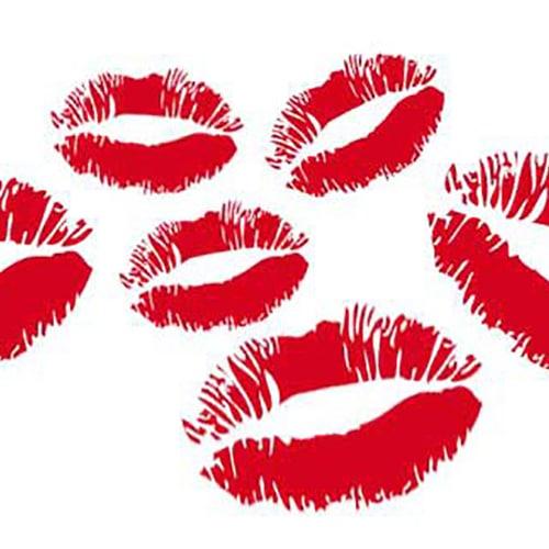 Stickers adhésifs Kiss rouge