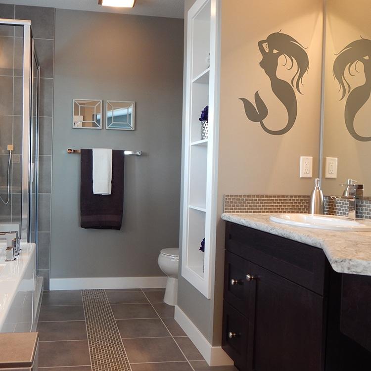 sticker sirène décor salle de bain