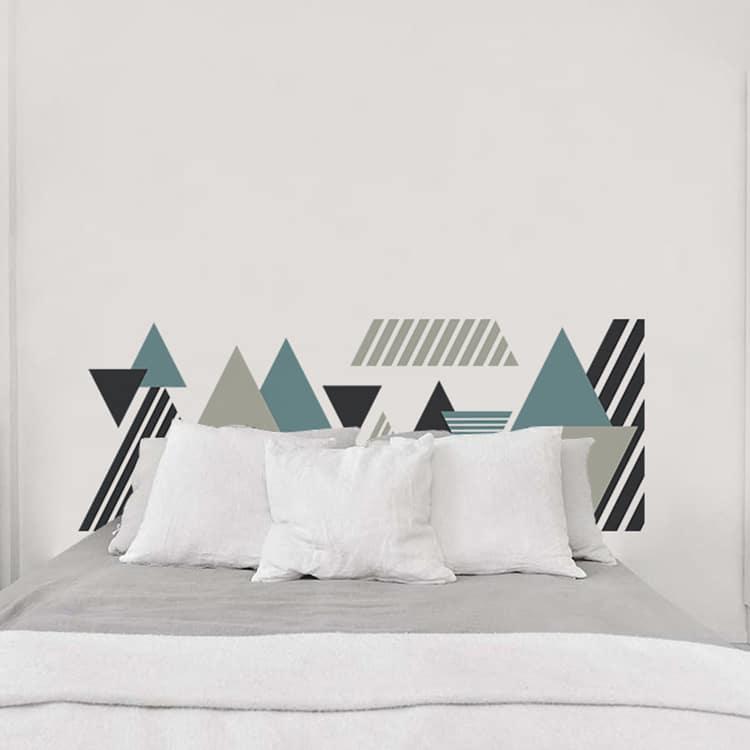 sticker mural design moderne sur fond blanc