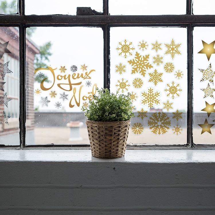 sticker fenêtre fêtes de noel
