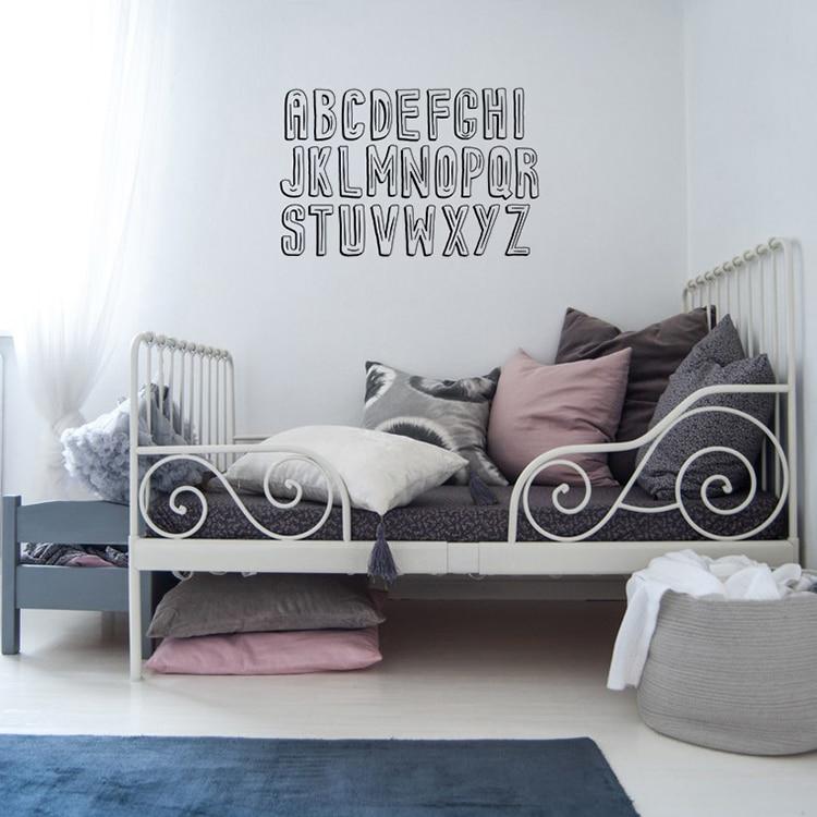 sticker mural alphabet motifs ludique